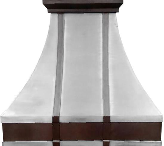 rustica pewter range hood