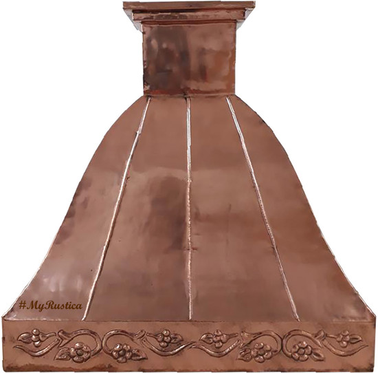 polished copper vent hood