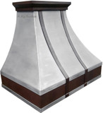 pewter range hood sale