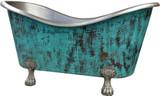 clawfoot copper bathtub