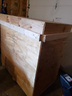 black metal range hood crated