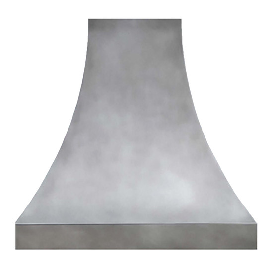 zinc range hood cover