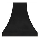 zinc range hood cover dark metal