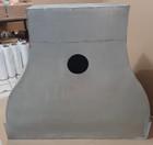 zinc wall mount kitchen range hood back veiw