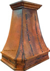 copper range hood side view