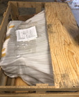 shipping crate of discount exhaust kitchen hood made of dark zinc metal