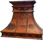 spanish hacienda copper range hood