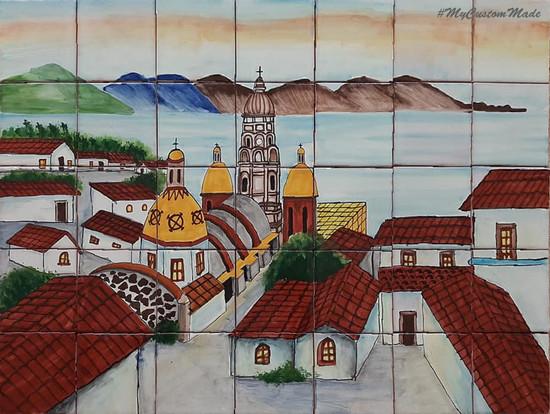 ceramic tile mural for kitchen on sale
