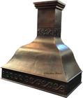 copper range hood for a kitchen detail