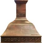 copper range hood for a large kitchen