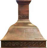 copper range hood for a large kitchen