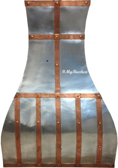rustica zinc metal range hood