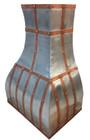 rustica zinc metal range hood detail