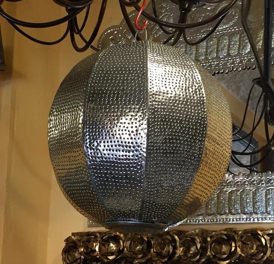 sphere metal lamp cover