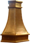front view of copper range hood from home depot