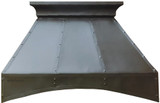 french country zinc range hood