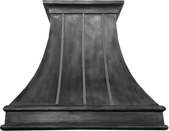 zinc range hood with straps