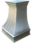 handcrafted metal zinc range hood side view
