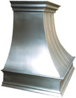 handcrafted metal zinc range hood design detail