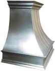 handcrafted metal zinc range hood design detail