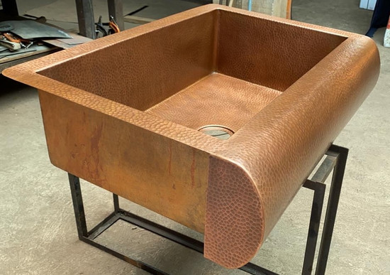 apron copper kitchen sink sale