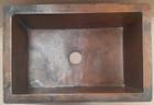 copper kitchen sink front view