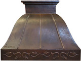 recirculating copper range hood
