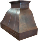 recirculating copper range hood side view