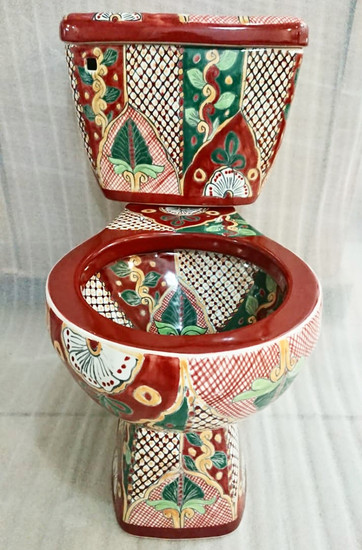 terra cotta mexican toilet