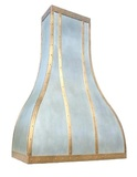 antique brass range hood