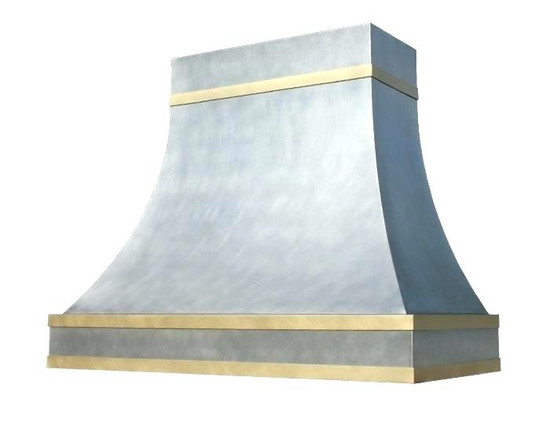 gold range hood made of brass