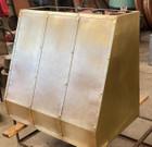 wall brass range hood detail