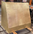 brass range hood for a kitchen on sale