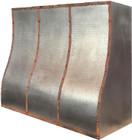 zinc and copper range hood