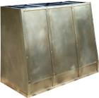 brass range hood side view