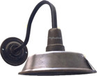 industrial wall bronze lamp size view