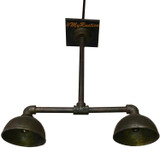 hanging bronze industrial style lamp
