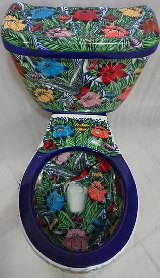 mexican toilet blue colibri