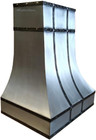 zinc range hood with straps side view