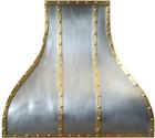 brass zinc kitchen range hood