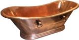 French style slipper copper bathtub
