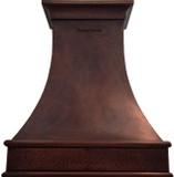 custom hammered copper range hood