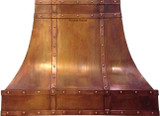 vent hood hammered copper