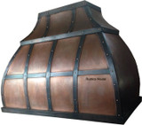 copper range hood for gas stove