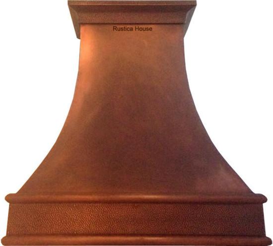 custom hammered copper vent hood