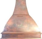hammered copper stove hood for range