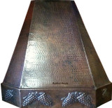 hammered copper oven hood