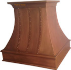 contemporary hammered copper range hood