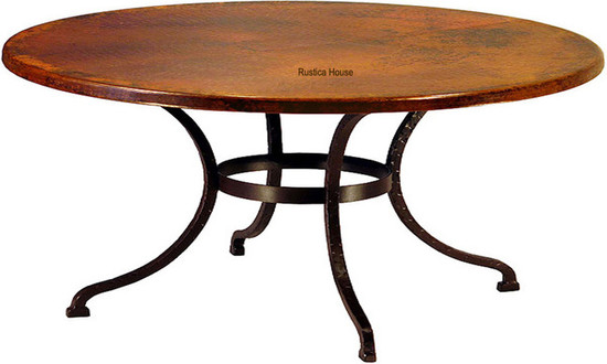 eat-in kitchen copper table
