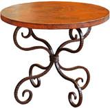 rustic copper table